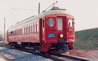 The Old Red Line Train in Los Angeles